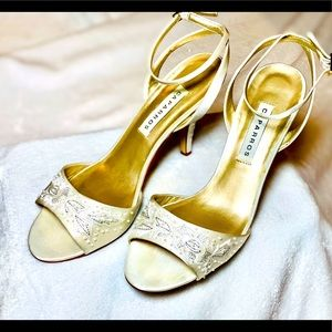 Caparros Size 10B Ivory Color Beaded Heels